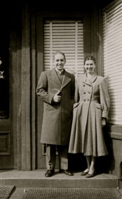 John and Thelma Kraybill at original storefront