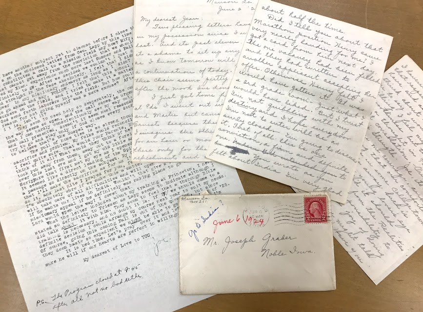 letters from June 1924 mark the first exchange of correspondence between Joseph D. Graber and Minnie Swartzendruber about their decision to commit their lives to mission work.